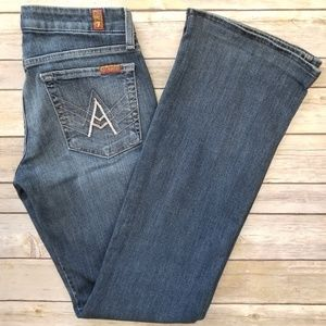 7 For all Mankind 'A' Pocket Wide Leg